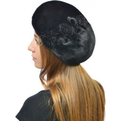 Норковая шапочка-берет НН 070