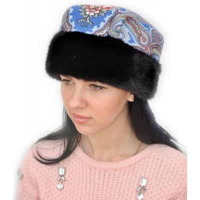 меховая шапка платок ПТ 027