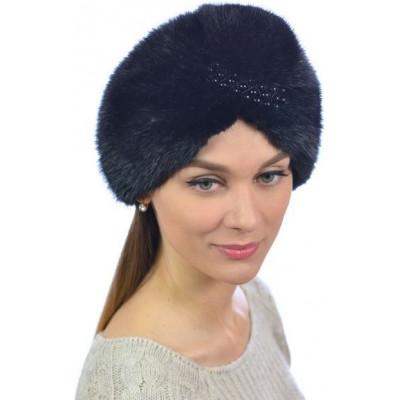 Женская меховая шапка чалма КА 019а