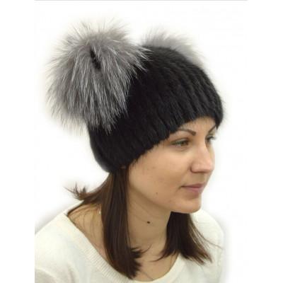 Женская меховая шапка КА 018