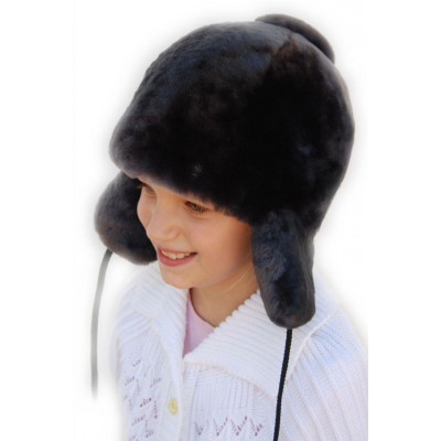 Меховая детская шапка ДВ 033