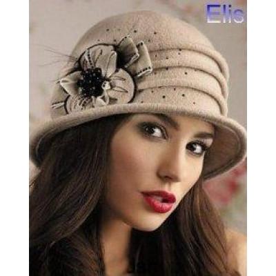 Модная шляпа из шерстяной пряжи ВТ-004