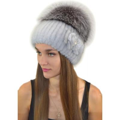 Женская шапка из норки НВ-037е