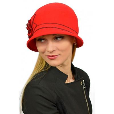 Красная женская шляпа ЖШ-030