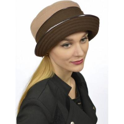 Женская шапка двухцветная ЖШ 011