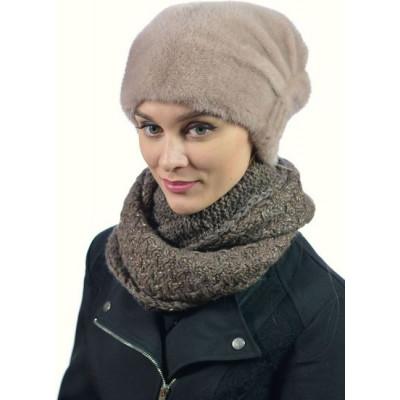 Женская шапка из норки НН 047
