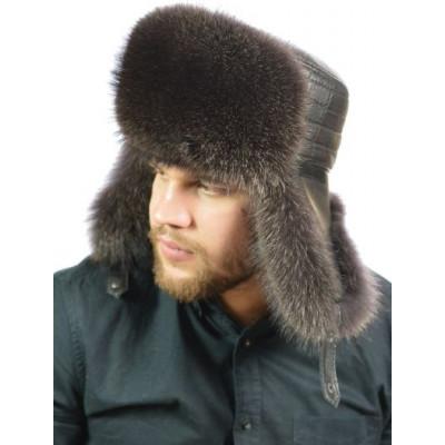 Мужская шапка из меха енота НЕ-035а-М