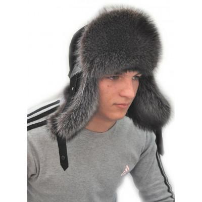 Мужская шапка ушанка из енота НЕ-040