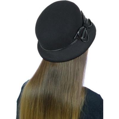 Шапка- шляпка из фетра ФТ-058
