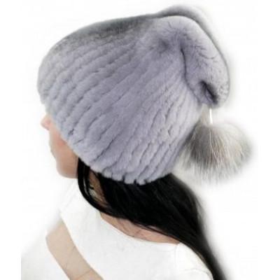 Женская шапка из кролика БК-051