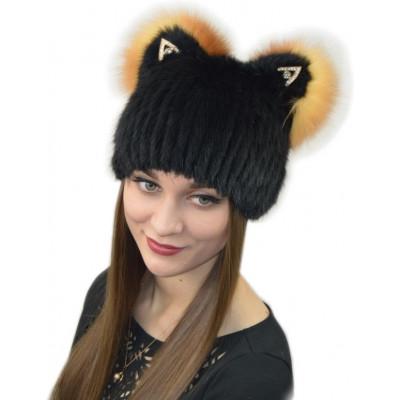 Модная меховая шапка КА 030