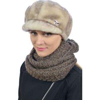 Женская шапка из мутона БМ 054
