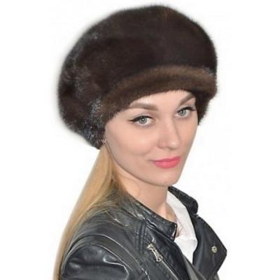 Женская норковая кепка НН 036