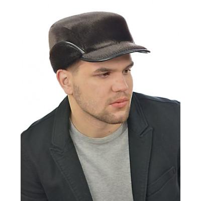 Мужская шапка из меха нерпы СН-032-М