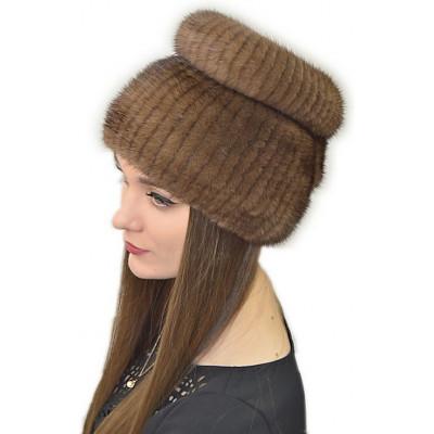 Вязаная шапка с норкой НТ 038