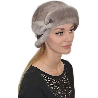 Женская шапка из мутона БМ 040