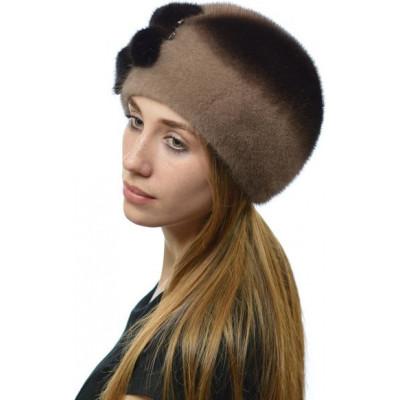 Модная норковая шапочка НН 065