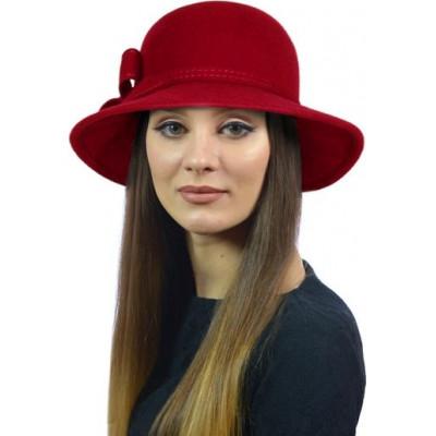 Шапка- шляпка из фетра ФТ-057