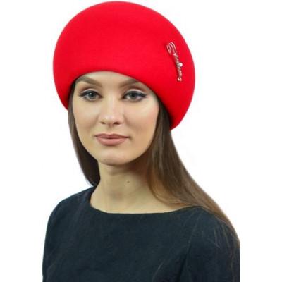 Шапка- шляпка из фетра ФТ-078