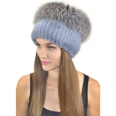 Женская меховая шапка БК 049а