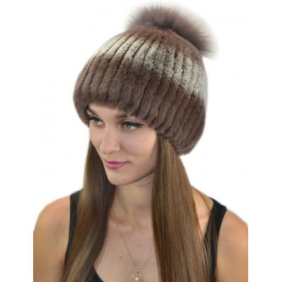 Женская меховая шапка КА 010