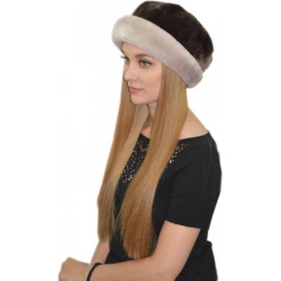 Женская меховая шапка из мутона БМ 078