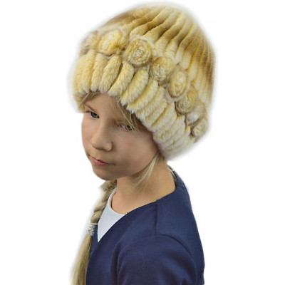 Меховая шапка для девочки ДВ 026