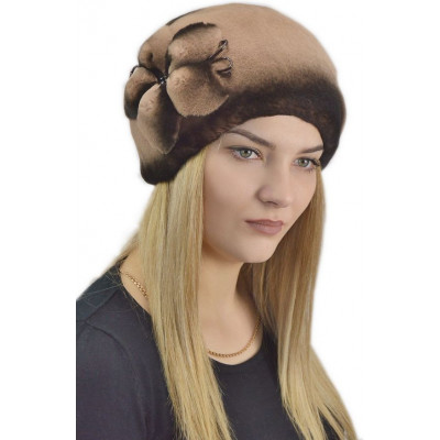 Женская меховая шапка БК 052