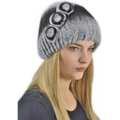 Женская меховая шапка КА 012