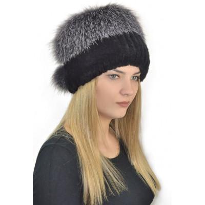 Женская зимняя шапка БК 049
