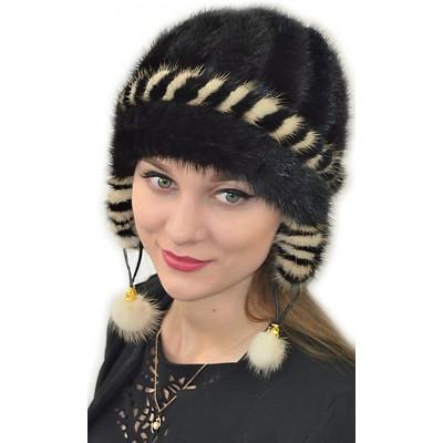 Норковая вязаная шапка НВ 51
