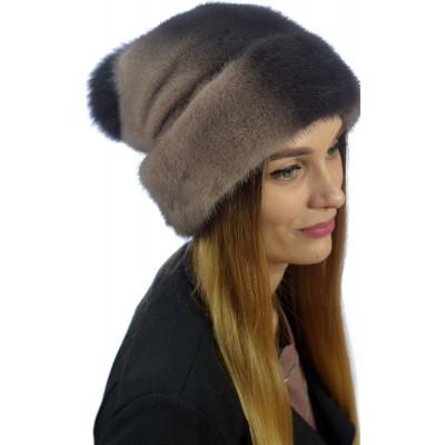 Зимняя шапка из меха норки НВ 040