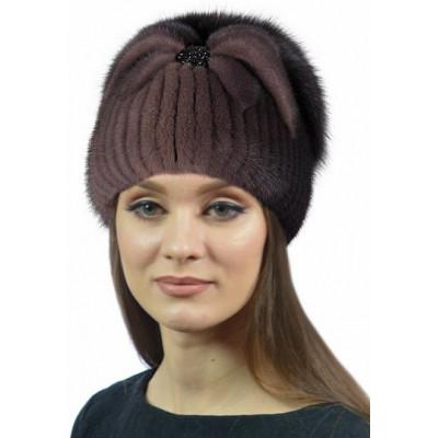 Модная норковая шапка НВ 093