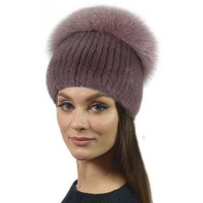 Женская норковая шапка НВ-103