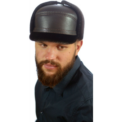 Мужская шапка из нерпы СН-050