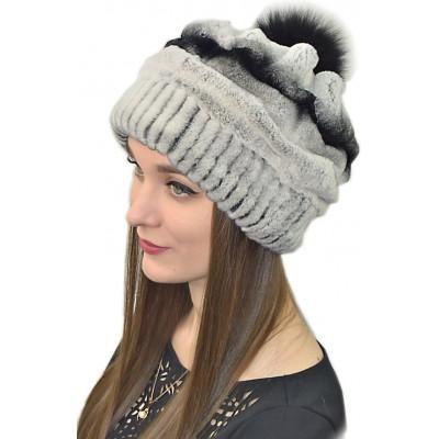 Зимняя шапка с помпоном БК 041