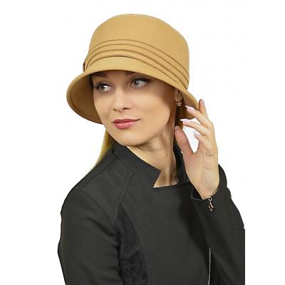 Шляпа песочного цвета ЖШ-029