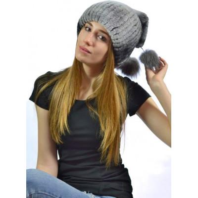 Женская шапка с помпоном БК 045