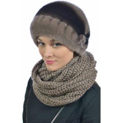 Модная норковая шапка НН -024