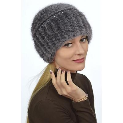 Норковая шапка НВ 091