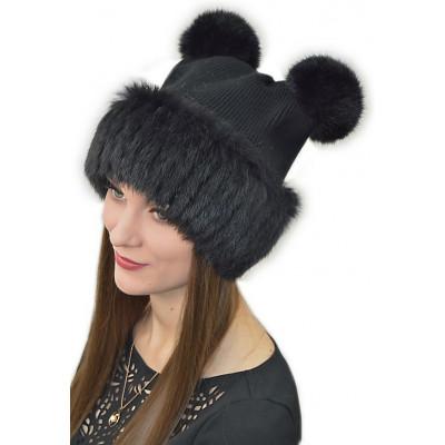 Женская шапка из кролика БК 026