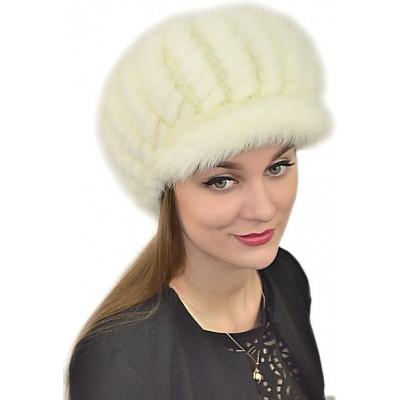 Женская шапка из вязаной норки НВ 029а