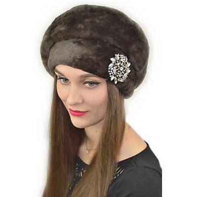 Женская меховая шапка БМ 072
