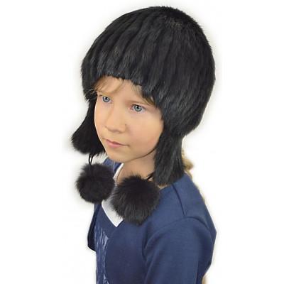 Детская меховая шапка ДВ-031