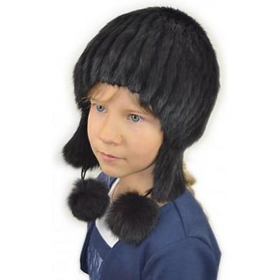 Детская меховая шапка ДВ-031а