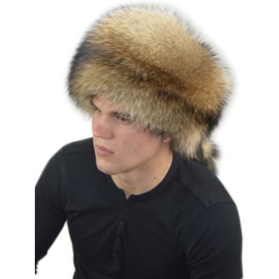 Мужская шапка из енота НЕ 038