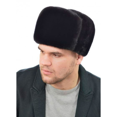 Мужская шапка из норки формовка ШМ 037