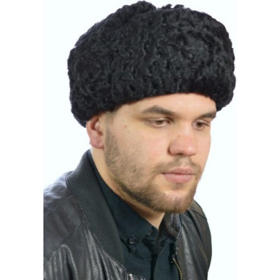 Мужская шапка из меха каракуль КР-074а