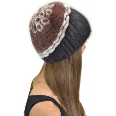 Женская меховая шапка КА 019