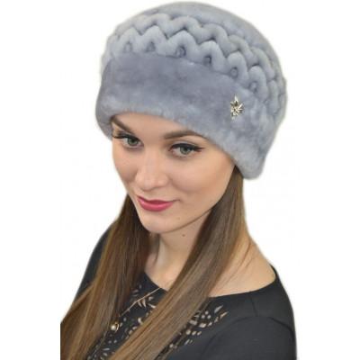 Женская мутоновая шапка БМ 053